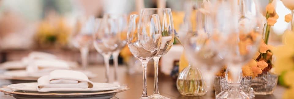 Repas de mariage: bien choisir sa vaisselle